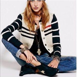 Free People Broad Street Snap Sweater Jacket
